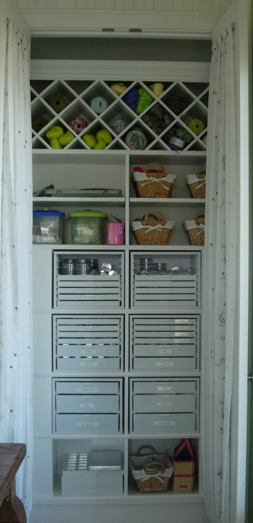 Custom wood craft closet